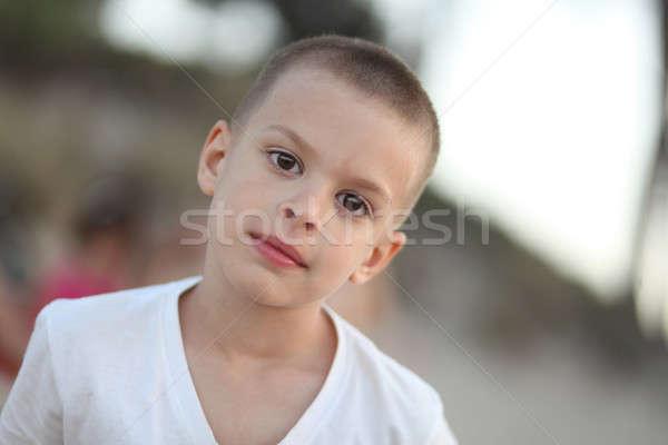 глядя серьезный портрет мальчика Сток-фото © ajfilgud
