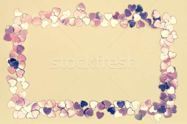 Frame of hearts Stock photo © ajfilgud