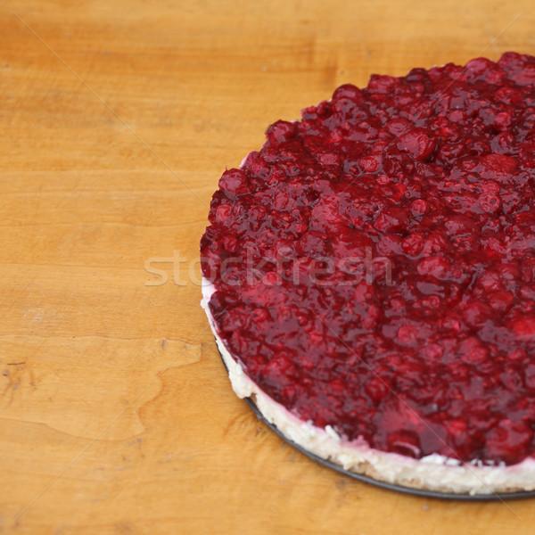 Cheesecake fatto in casa rustico selvatico frutti di bosco tavolo in legno Foto d'archivio © ajfilgud