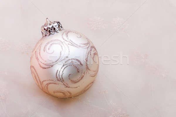Новый год мяча пастельный цветами золото белый Сток-фото © ajfilgud