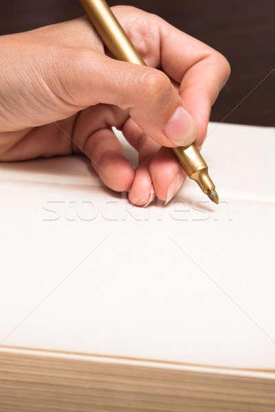 написать белый бумаги стороны Сток-фото © ajfilgud