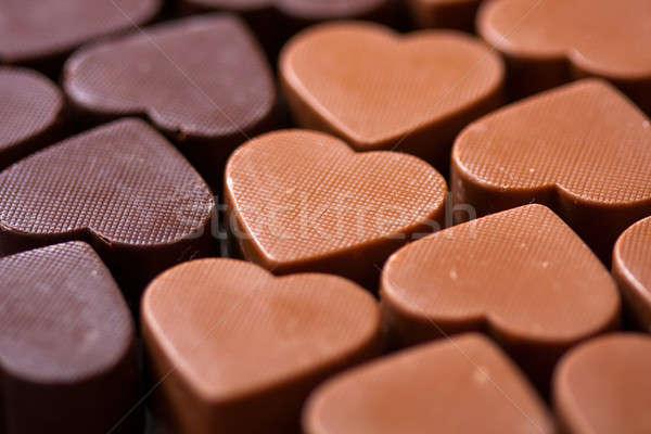 Chocolate praline candy Stock photo © ajfilgud