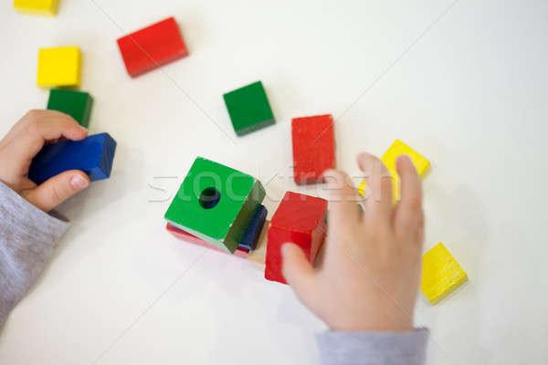 ребенка играть кирпичных Сток-фото © ajfilgud