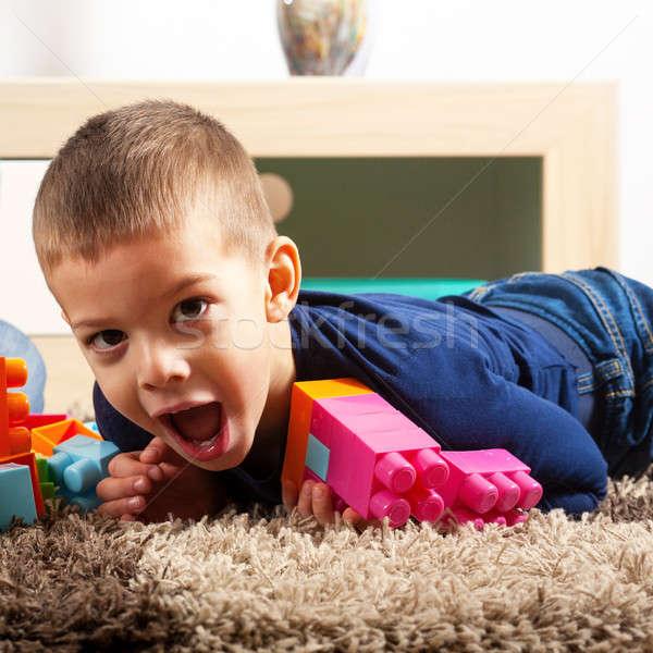 мальчика играть играет ковер Сток-фото © ajfilgud