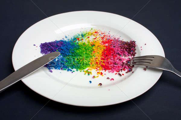 çeşitlilik gıda sağlıklı beslenme tüm renkler fotoğraf Stok fotoğraf © ajfilgud
