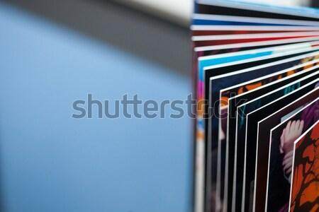 Basılı kitap soyut fotoğraf Stok fotoğraf © ajfilgud