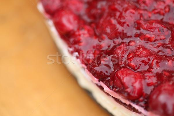 Cheesecake primo piano fatto in casa rustico selvatico frutti di bosco Foto d'archivio © ajfilgud