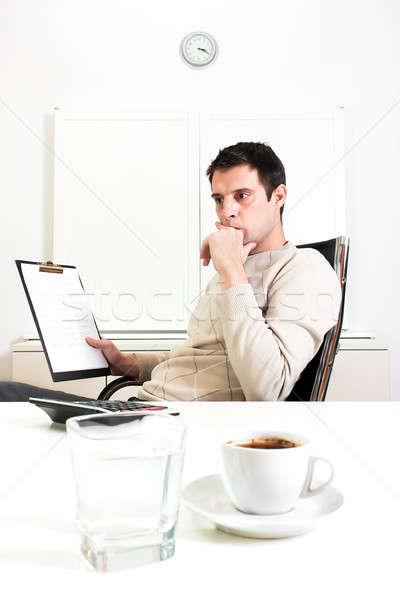 Businessman contemplating Stock photo © ajfilgud