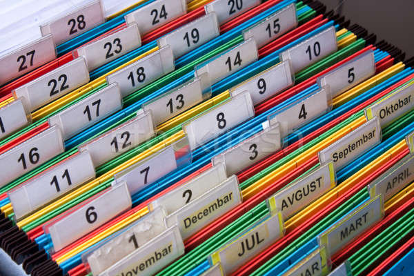 File folders with numerical label Stock photo © ajfilgud