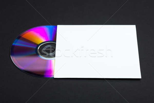 Cd borító CD bot ki üres papír Stock fotó © ajfilgud