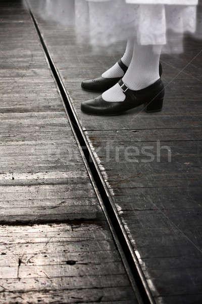 Nők láb színház titokzatos nő áll Stock fotó © ajfilgud