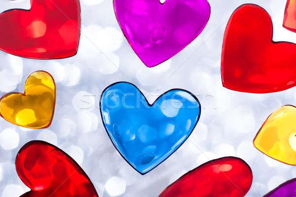 Валентин сердцах сердце многие цветами Сток-фото © ajfilgud