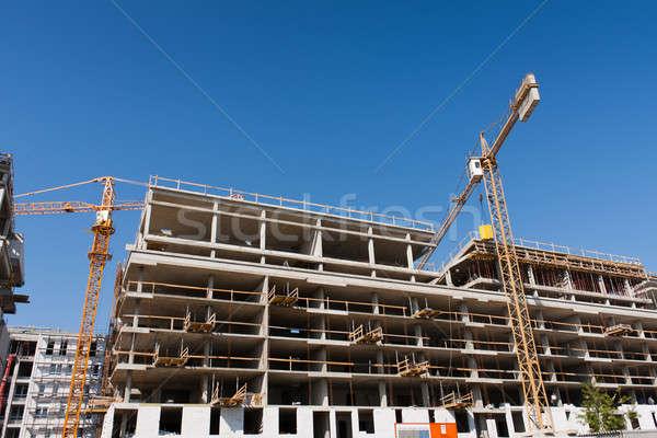здании строительная площадка конкретные крана структуры Сток-фото © ajfilgud