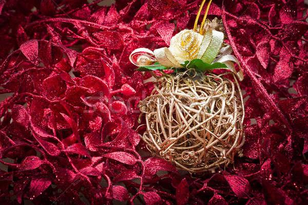 Рождества украшение орнамент красный праздник празднования Сток-фото © ajfilgud