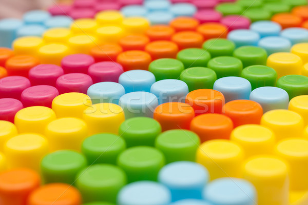 Kleurrijk achtergrond leuk speelgoed baksteen Stockfoto © ajfilgud
