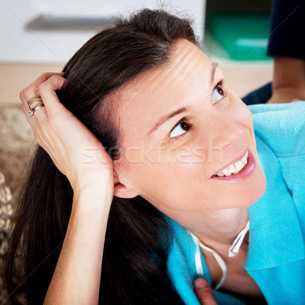 счастливым женщину женщину лицом счастье девушки Сток-фото © ajfilgud
