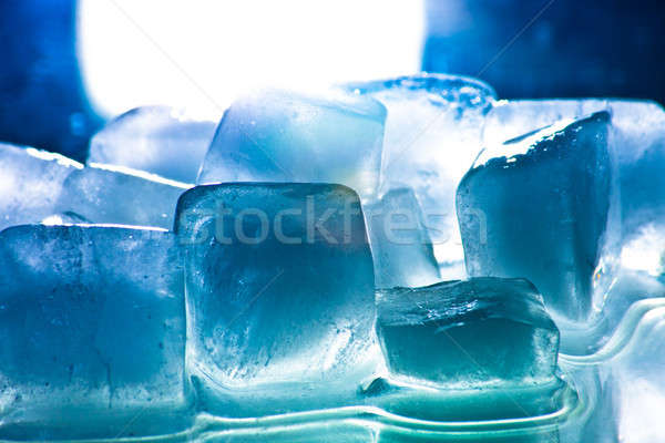 Ice cube gelo bebida fria fundo beber Foto stock © ajfilgud