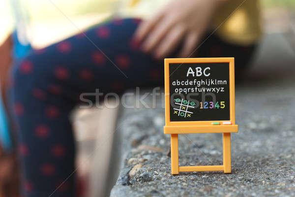 çocuk tahta okul çocuklar eğitim bilim Stok fotoğraf © ajfilgud