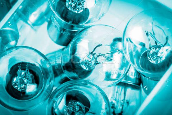 синий освещение лампы власти Сток-фото © ajfilgud