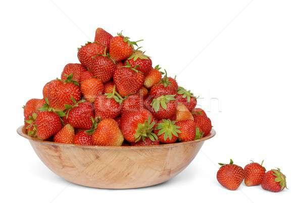 Eprek tál háttér gyümölcsök eszik fehér Stock fotó © ajt