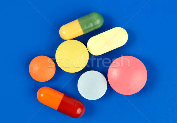 Pills on Blue Stock photo © ajt