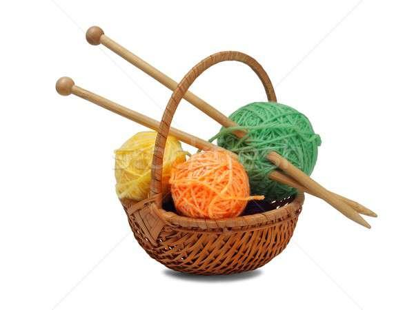 Knitting wool and needles Stock photo © ajt