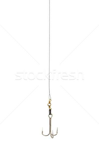 Halászat kampó izolált fehér hal sport Stock fotó © ajt