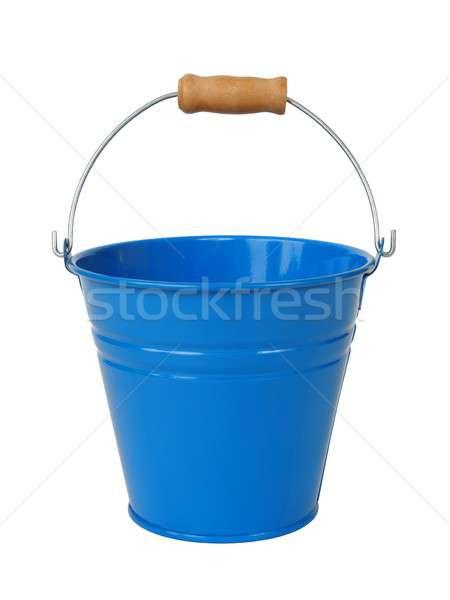 Mavi kova Metal yalıtılmış beyaz Stok fotoğraf © ajt