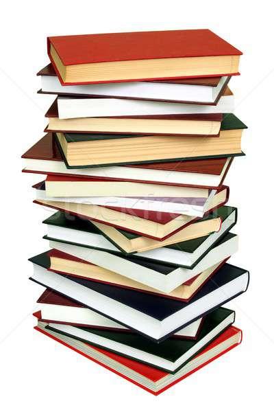 図書 高い スタック 孤立した 白 ストックフォト © ajt