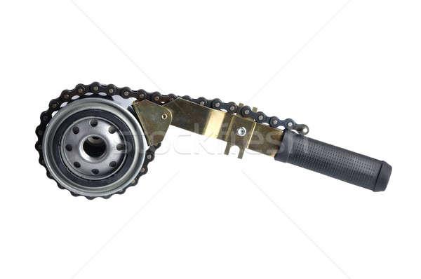 Voiture pétrolières filtrer clé isolé blanche Photo stock © ajt