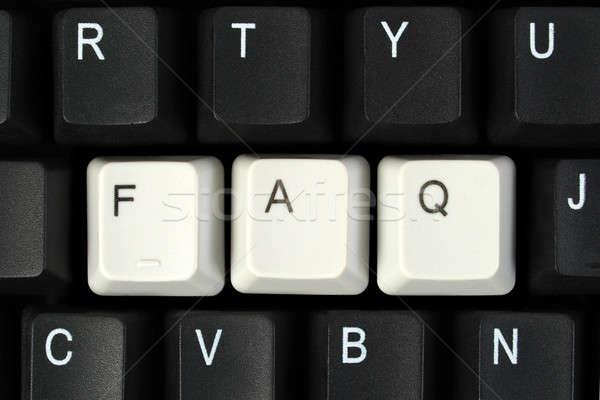 Faq toetsenbord vaak vragen sleutel Stockfoto © ajt