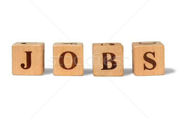 Wooden blocks with word jobs Stock photo © ajt
