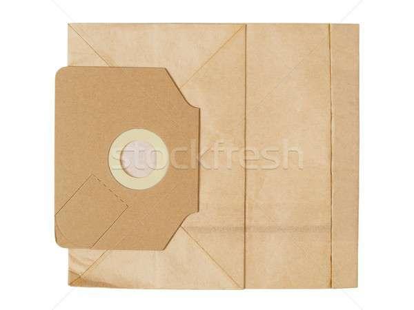 Papírzacskó porszívó eldobható izolált fehér kosz Stock fotó © ajt