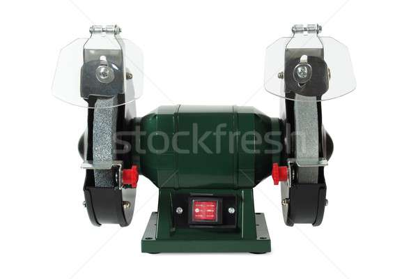 Bench grinder on white Stock photo © ajt