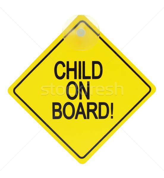 Child on board sign Stock photo © ajt