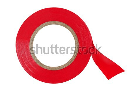 Stock photo: Red insulating tape
