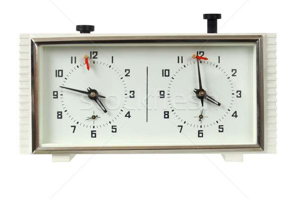 Chess clock on white Stock photo © ajt