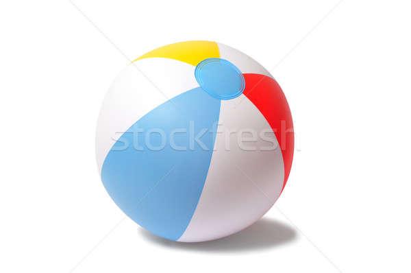 Strandlabda felfújható izolált fehér tengerpart játék Stock fotó © ajt