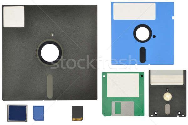 Ayarlamak 14 12 bellek kartları Stok fotoğraf © ajt