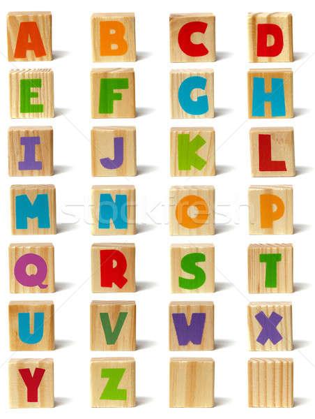 Wooden blocks font Stock photo © ajt