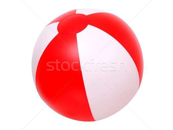 Isolado bola de praia inflável branco praia bola Foto stock © ajt