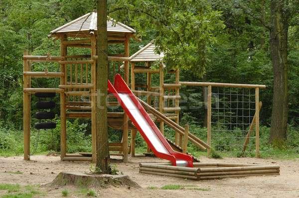 Játszótér gyerekek park gyerekek Stock fotó © ajt