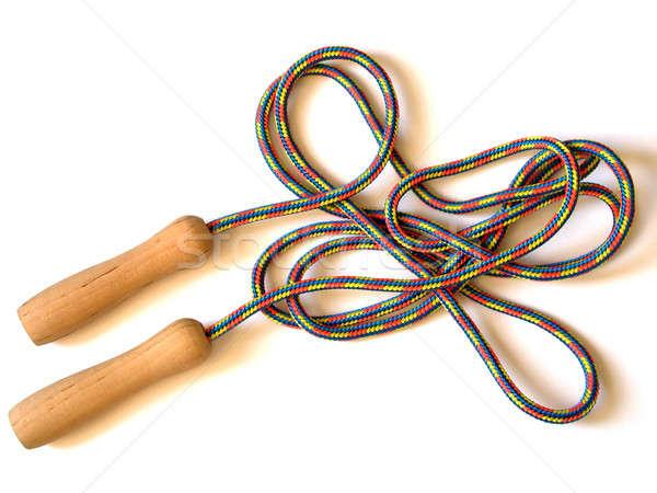 Ugrókötél izolált gyerekek ugrás játék kötél Stock fotó © ajt
