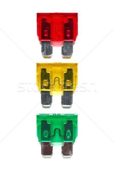 Set of car blade type fuses Stock photo © ajt