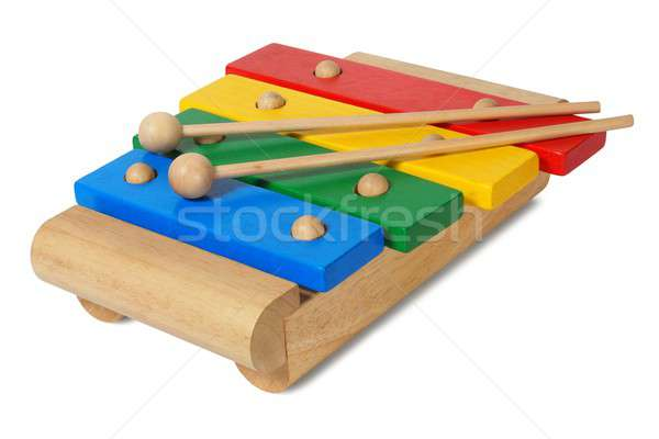 Wooden ylophone on white Stock photo © ajt