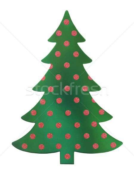 Green Christmas tree Stock photo © ajt