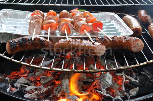 Barbecue charbon alimentaire barbecue brûlant Photo stock © ajt