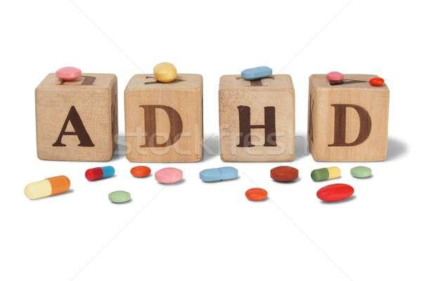ADHD on wooden blocks Stock photo © ajt