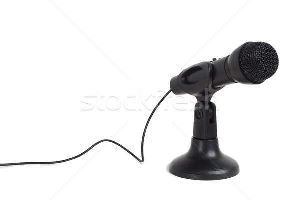 黒 マイク 白 ケーブル 孤立した 音楽 ストックフォト © ajt