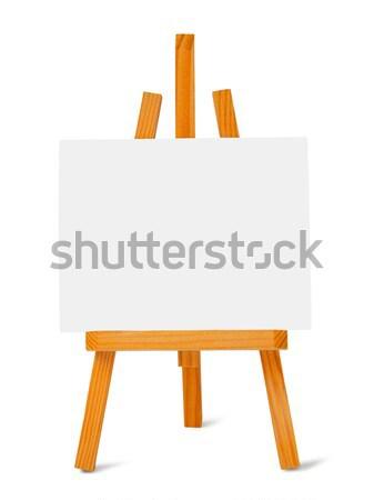 小 イーゼル キャンバス 白 塗料 画家 ストックフォト © ajt